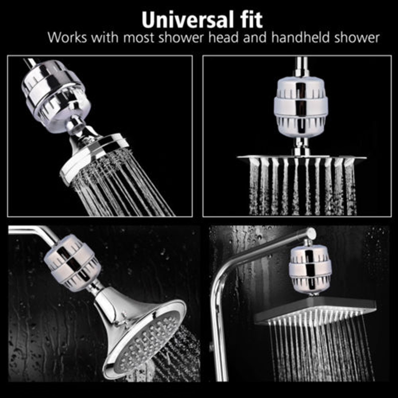 5Stage Shower Water Filter Softener for Hard Water Removes Chlorine & Flouride