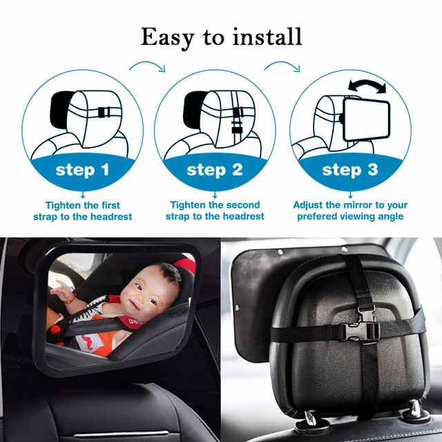 Car Back Seat Mirror Easy View Vehicle Baby Child Facing Rear Ward Sight Safety Infant Care