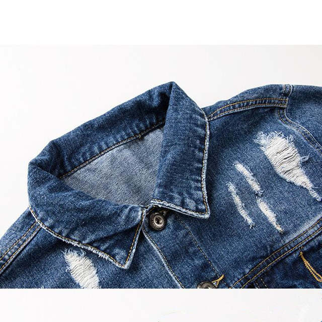 c6c02dacb1 Graffiti Letter Men Ripped Denim Jackets Mens 2017 Printed Jeans Women Coat  Hip Hop Casual Cotton