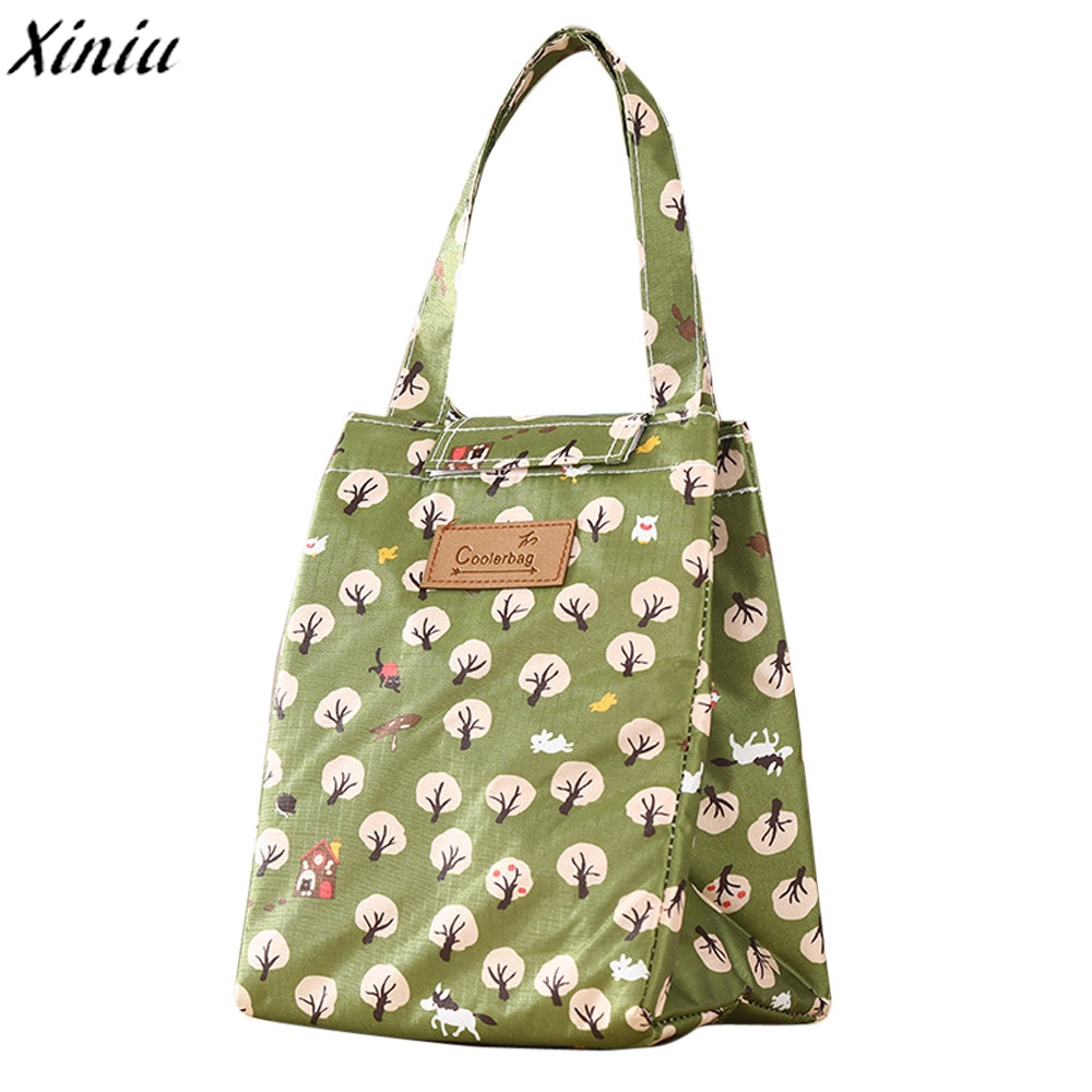 Women Men Lunch Bag Printing Oxford Cloth Portable Insulated Cooler Ice Bag Lunch Box Picnic Container Sac Pique Nique #7107