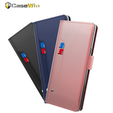 CASEWIN Phone Case For OnePlus 6T/OnePlus 6 Case PU Leather Flip Wallet Case with Mirror & Kickstand & Card Pocket For OnePlus 6 ezpad 6 m6 protective leather case with kickstand black