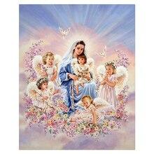 Angel baby 40×50 cm Diamant stickerei Diy diamantbohrer quadratrhinestone klebte Handwerk Hand home dekoration