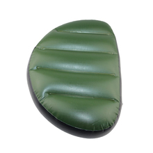 Green pvc inflatable seat air cushion mat 46*32*10cm waterproof