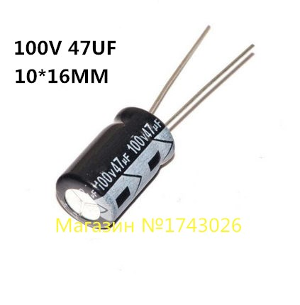 High quality 20 pcs/lot Aluminum electrolytic <font><b>capacitor</b></font> <font><b>47uF</b></font> <font><b>100V</b></font> 10*16mm <font><b>100V</b></font> <font><b>47UF</b></font> Electrolytic <font><b>capacitor</b></font> ic ... image