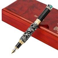 עט נובע עם לסובב יוקרה Jinhao הדרקון פרל פיין ציפורן 0.5 מ