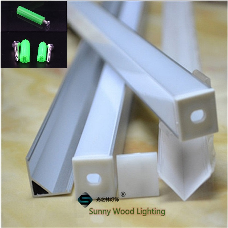 10pcs lot 40inch 90 degree led aluminium profile for 10mm PCB board led right angle corner