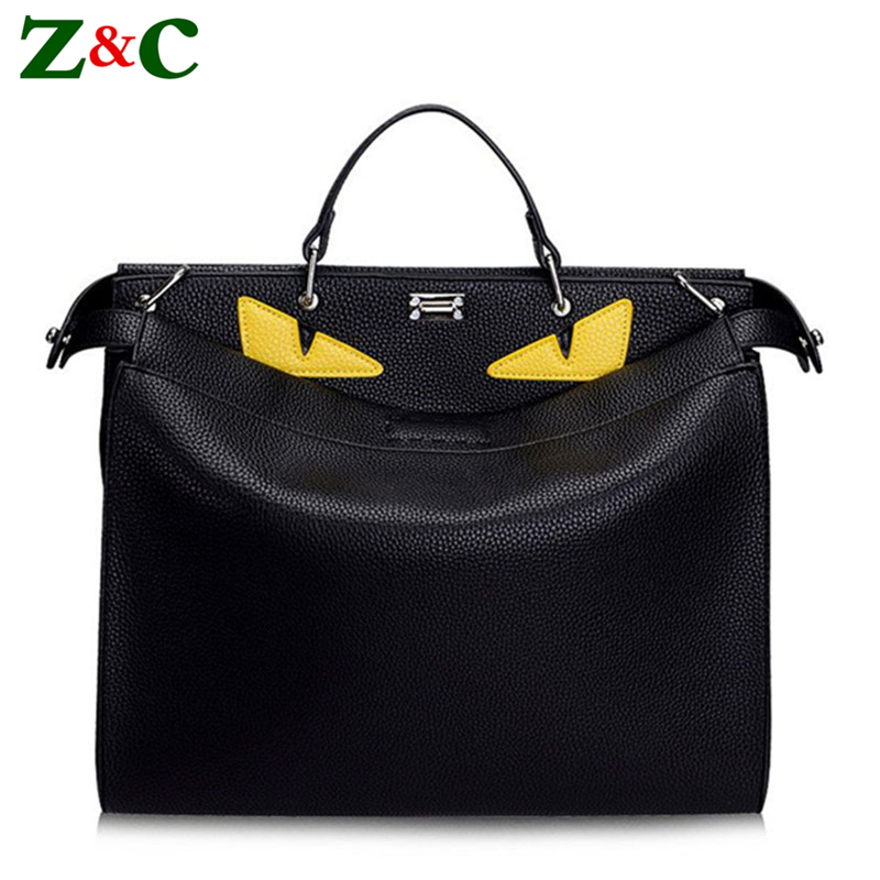 Luxury Brand Handbags Women Bags Designer Large Monster Bags Men Women High Quality Leather Black Totes Famous Men's Laptop Bags