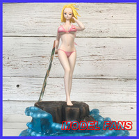 MODEL FANS dj Dragon Ball Z 29cm Android 18 lazuli Swimwear beach gk resin statue figure toy for Collection