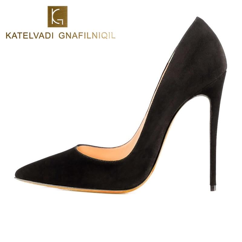 Talons aiguilles femmes talons hauts 12 CM talons hauts violet chaussures pompes femmes talons Sexy bout pointu chaussures de mariage pour femme B-0049