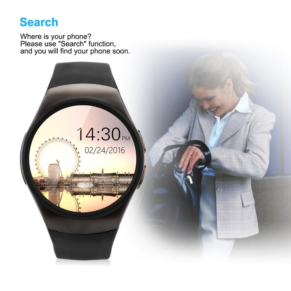 2016 New Product KW18 Smart Watch Android IOS Digital watch Bluetooth Reloj Inteligente SIM Round Heart Rate Monitor Watch Clock27
