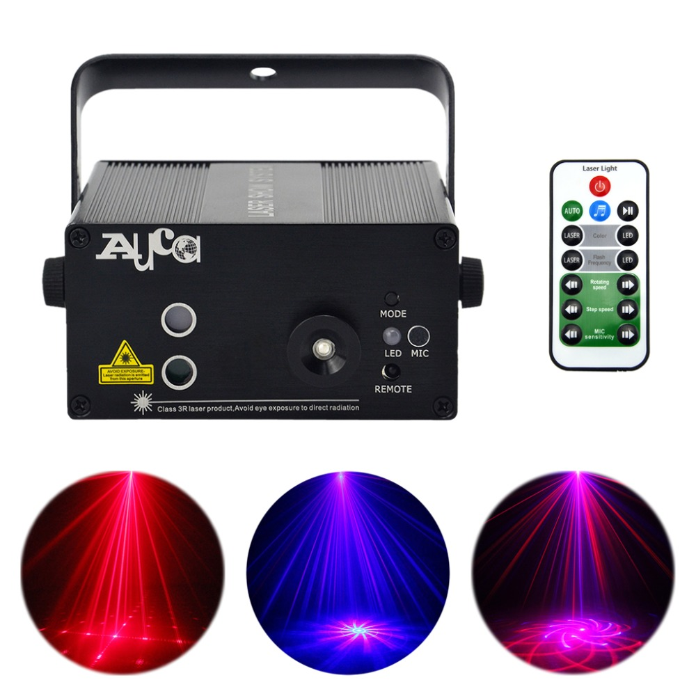 AUCD Mini 20 RB Patterns Laser Crossover Effect Projector 3W Blue LED Mixing Effect DJ KTV Show Home Party Stage Lighting L20RB