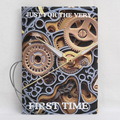New boys like cool cartoon passport holders, men travel passport cover, PU leather 3D Design-Mechanical gear watches