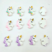 jewelry lot resin Unicorn Flat Back Resin Cabochon unicorn charms Decoration Accessories wholesale Christmas present