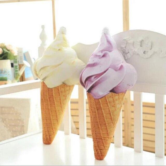 Ice Cream Emoji Pillow Cushion Cupcake Amusing Emotion Cushion 27cm
