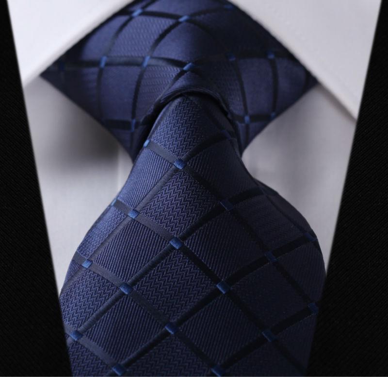 "Paisley Check Dot 3.4"" 100%Silk Wedding Jacquard Woven Men Classic  Man's Tie Necktie #I2"