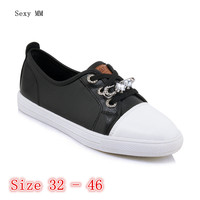 Flats Women Loafers Woman Casual Shoes Skate Walking Flat Shoes Small Plus Size 32 33 40 41 42 43 44 45 46