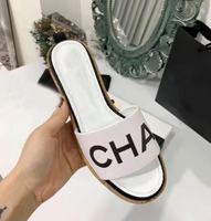 2019 slippers women summer square with sandals and slippers women open toe one word drag fashion casual szie 35 41 1