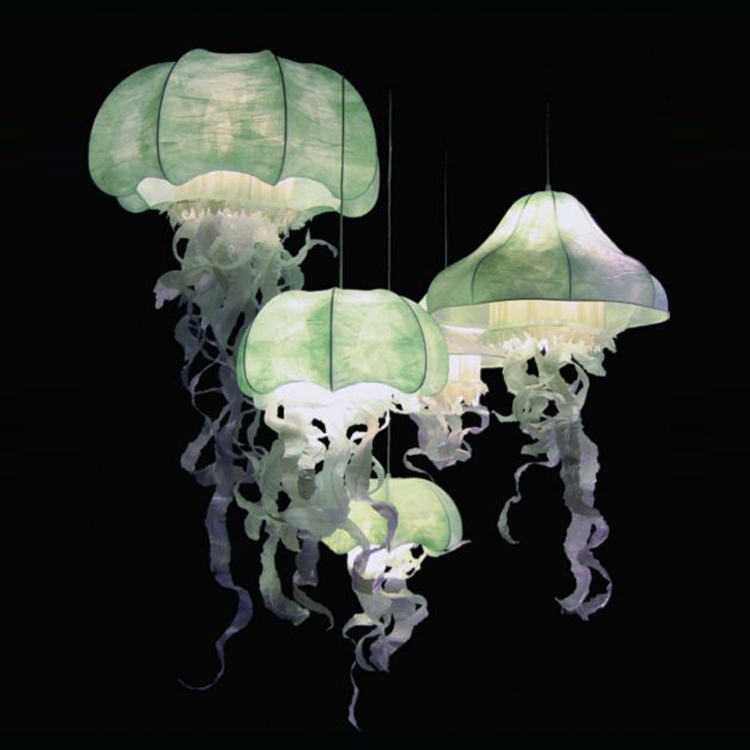 Nordic American Village Restaurant Blooming Jellyfish Chandelier Bedroom Lamp Living Room Personality In Pendant Lights From