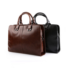 New Men PU Leather Briefcase Bags Business Laptop Tote Bag Men's Vintage Messenger Travel Bags Men's Crossbody Shoulder Bag