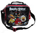 Aves de dibujos animados Negro Bolsa de Almuerzo Box for Kids Boys School Children Lunchbag Lunchbox Picnic Alimentos Bolsas Térmicas