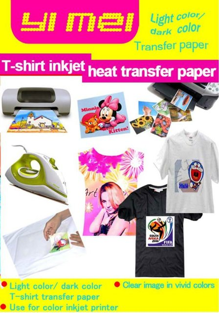 dark color T-shirt heat transfer paper for laser  printer