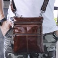 Vintage Trend Men Genuine Leather Single Shoulder Bag Travel Leisure Satchel Hot Sale Small Crossbody Messenger Bags For Male