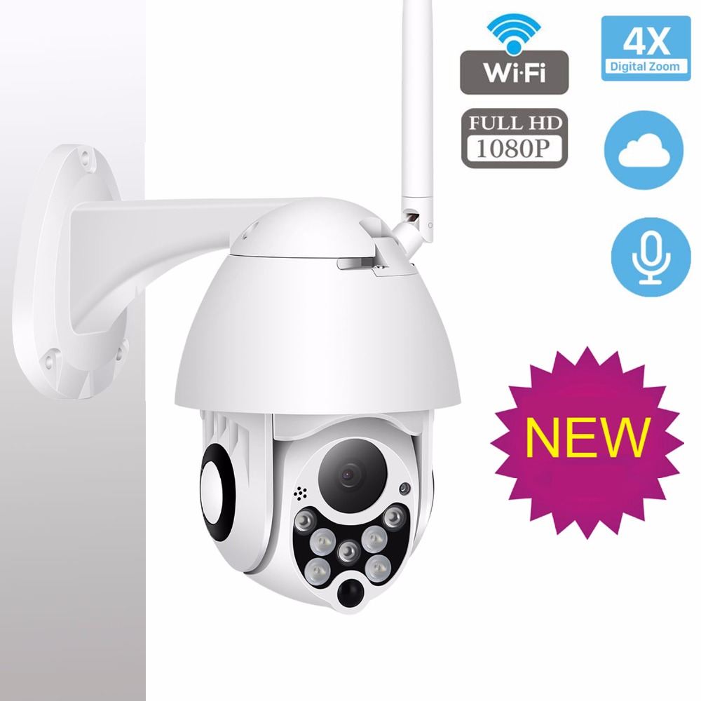 PTZ IP Camera WIFI Camera Outdoor Pan Tilt Zoom 1080p Speed Dome Onvif Ip Cam Home Security Surveillance IpCam Camara Exterior