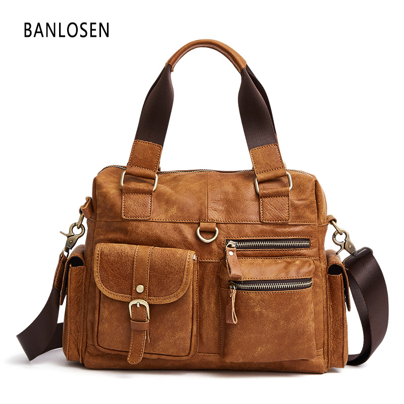 Men Handbag Business Briefcases Crossbody bag shoulder Messenger bags Large capacity laptop bag Luxury Travel handbags Y1590 men business travel crossbody shoulder handbags bag luxury style messenger bag high quality large capacity genuine leather bags