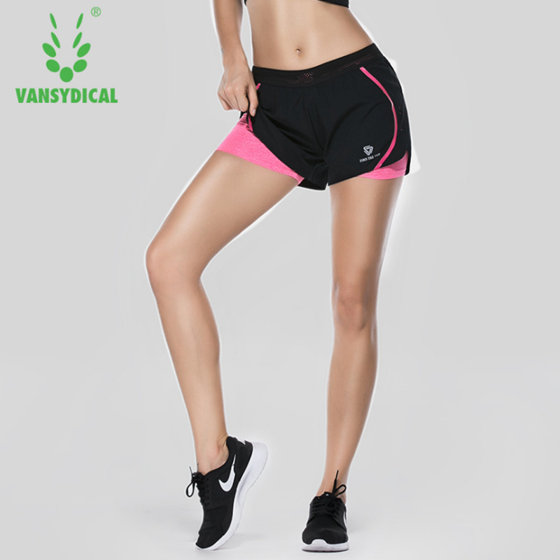 2 For 1 Women short for workout and active lined shorts quick drying fitness