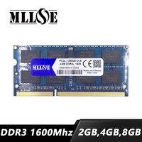 MLLSE 2gb 2gb 4gb 8gb 16gb 32 gb 64 gb DDR3 1600 mhz pc3L-12800 sdram memoria ram portátil memoria 2g 4g 8g DDR3L 1600 mhz PC3-12800 notebook