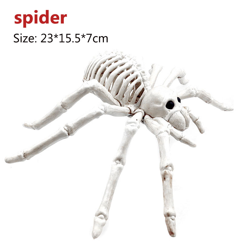 Halloween Decoration Bone Props Animals Skeleton Ornaments Bat Spider Dragon Bird Bones Hallowmas Horror House Party Decoration (84)