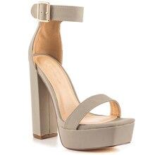 Silver Grey Sapatos Feminino Women Sandals High Heels Platform Sapatos Mulher Sandalias Rasteiras Femininas Designer Shoes Women