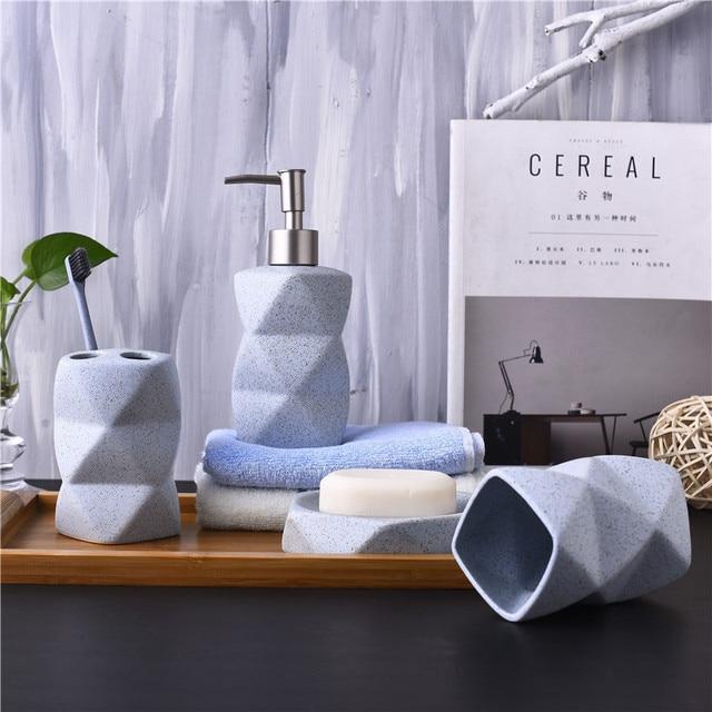 Nordischen Stil Badezimmer set Keramik Seifenspender ...