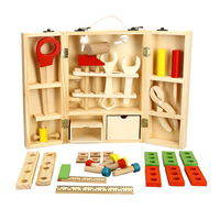 Set New House Wooden Puzzle Children Toy Toolbox Service Simulation Toolbox Nut Toolbox Drop Shipping Toy
