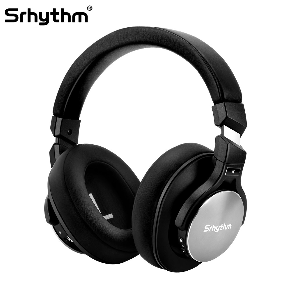 цена на Noise Cancelling Bluetooth wireless Headphones Foldable Over ear headset Stereo deep Bass Earphones with microphone computer PC