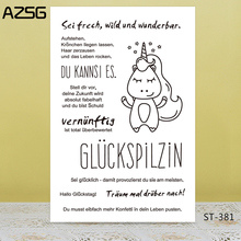 AZSG Italian Typeface Lovely Unicorn Clear Stamps For DIY Scrapbooking/Card Making/Album Decorative Silicone Stamp Crafts
