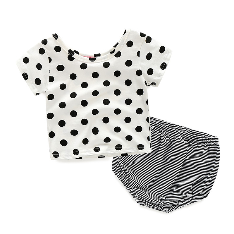 Summer Newborn Baby Girls Clothing Set Outfit Clothes T-Shirt Tops+Pants 2PCS Cute Baby Girls Clothes Set Infant Cloth Bodysuits
