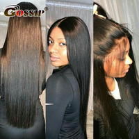 Gossip Hair 360 Lace Frontal Wigs 150% or 180% Brazilian Remy Straight Human Hair Wigs For Women Black Wig 360 Lace Wig