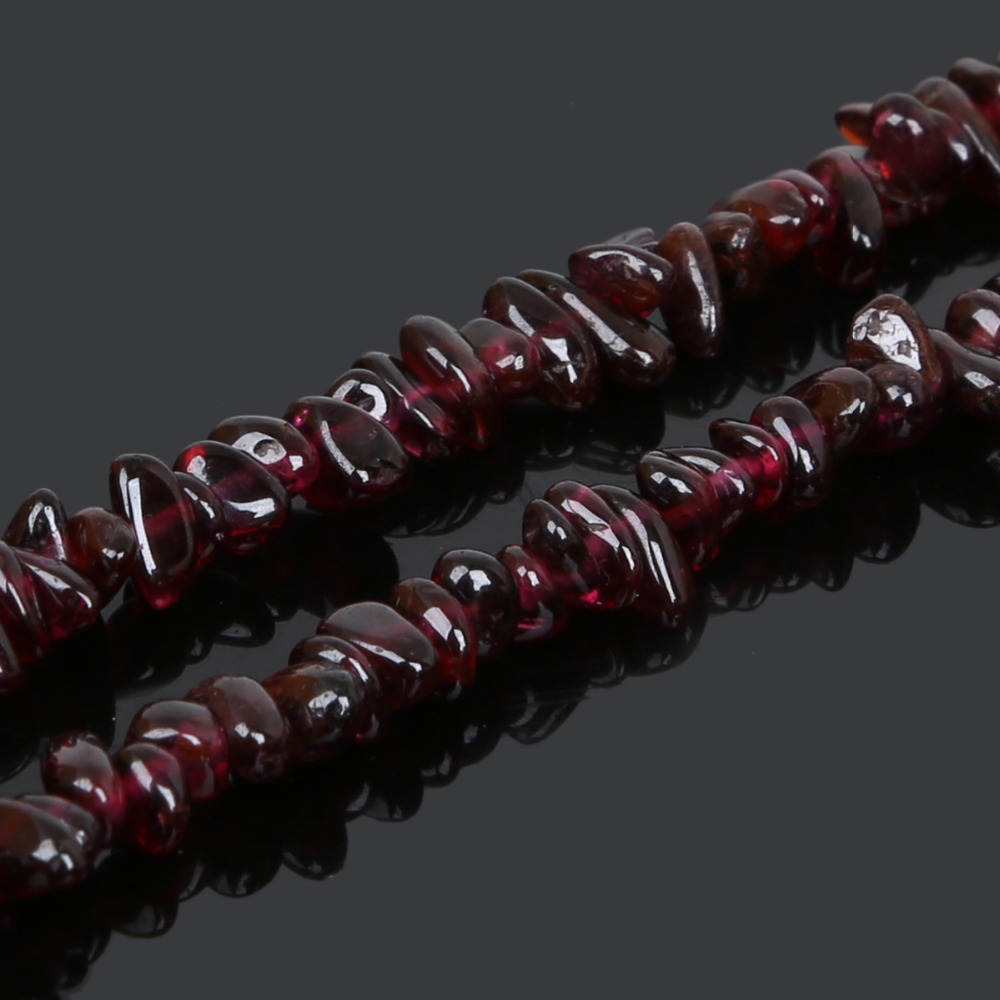 Hot Arrival 5-6mm Natural Stone Beads Dark Red Garnet Irregular Grain For DIY Bracelets & Necklaces Jewelry Making(China)