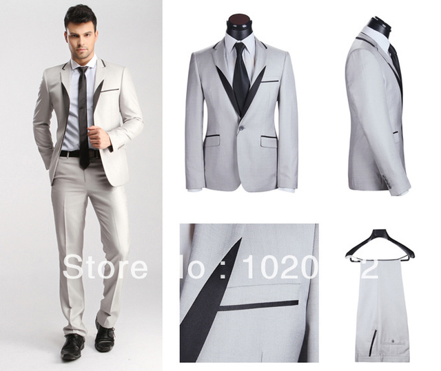 2013 Brand New Dress Suit Top Quality Men Slim Fit Suits Wool Suit ...