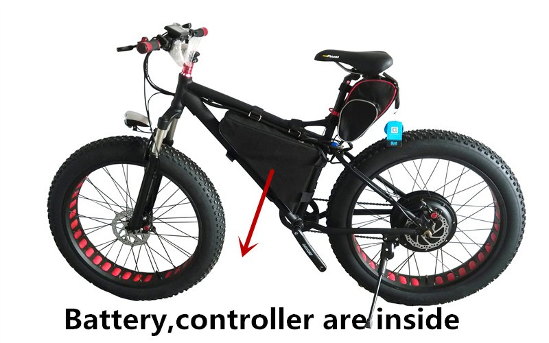48v 1500w fat bike with mid battery