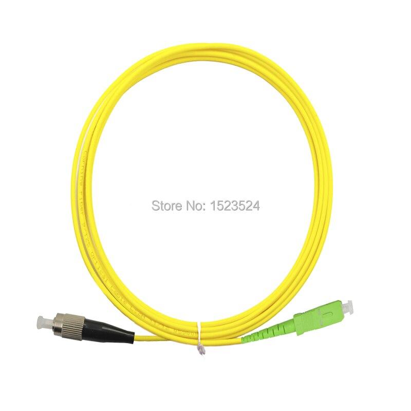Free Shipping 10pcs lot Fiber Optic Patch cord cable SC APC FC UPC Singlemode 9 125