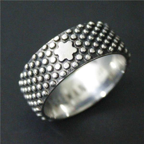 ขนาด 7 ถึง 12 ยอดนิยม Ridge Point แหวน 316L สแตนเลสบุรุษสตรีแหวนสไตล์แหวนดาว