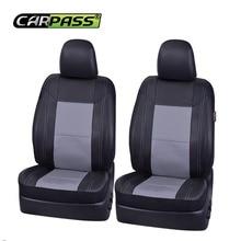 Car-pass 5 Color Universall Fundas de Asiento Auto Car Asientos Delanteros Dos Fundas de Asiento de Coche de Cuero de Cuero de La Pu accesorios interiores