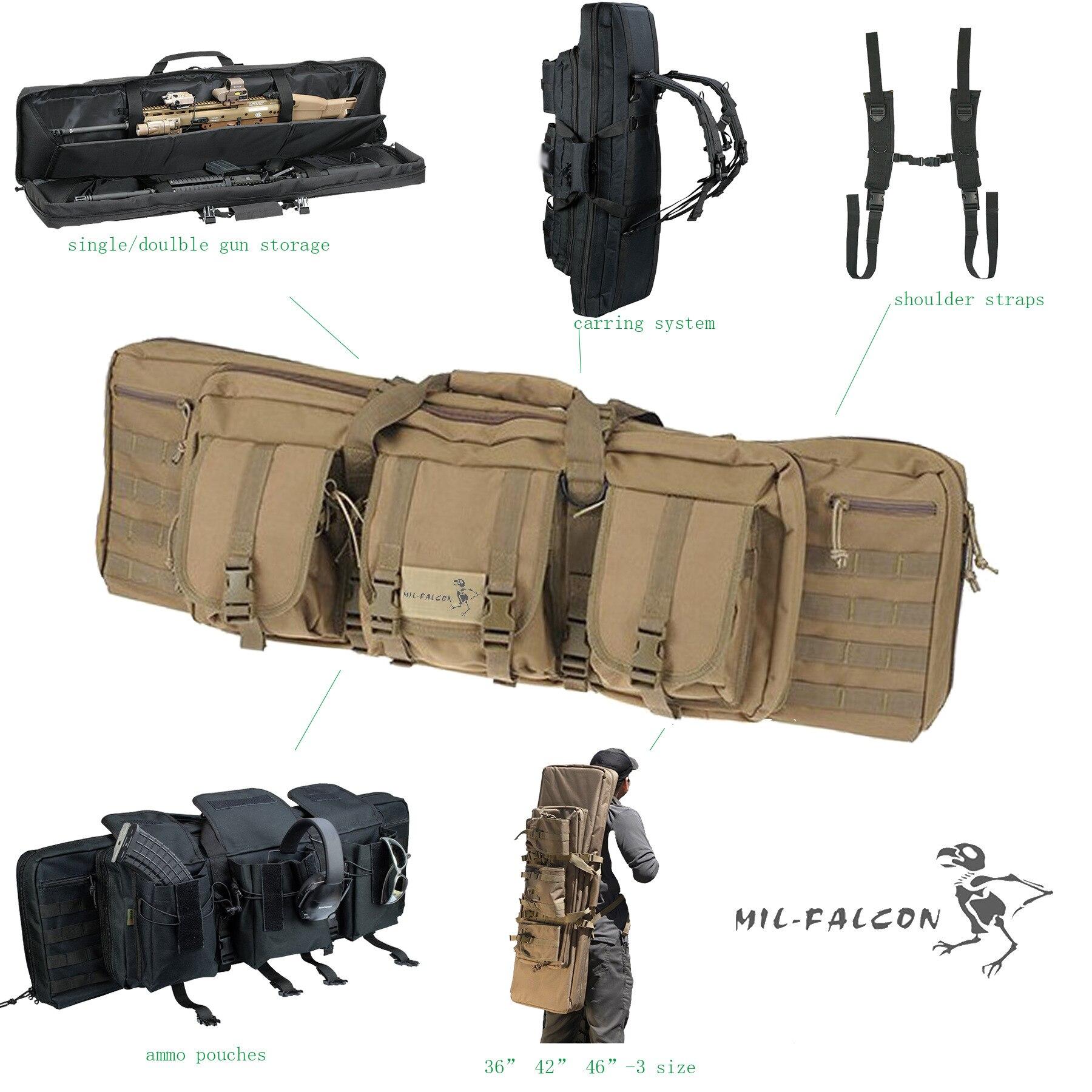 Gun Bag Outdoor Hunting Tool Shooting Bag Tactical Sniper Rifle Bag 36 Inch Double Lancet Bag A4846 47 tactical hunting padded rifle sniper gun sling carrying case black