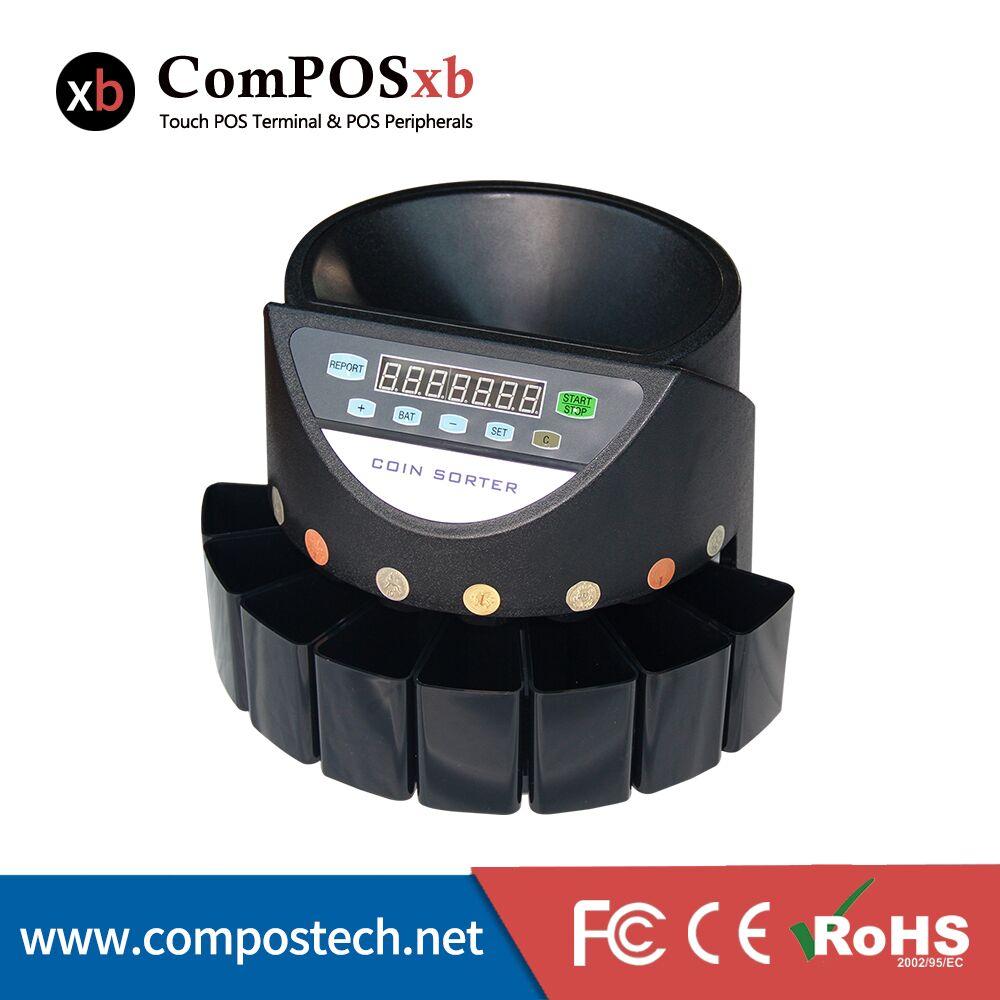 все цены на  ComPOSxb 2017 New High Speed electronic Coin Counter USB coin machine High quality CS-550  онлайн