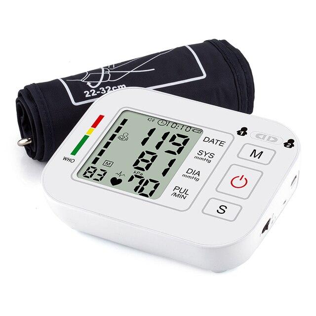 Medical Equipment Tonometer Digital Upper Arm Tensioner Blood Pressure Monitor Measurement Meter Device BP Meter For Measuring 3