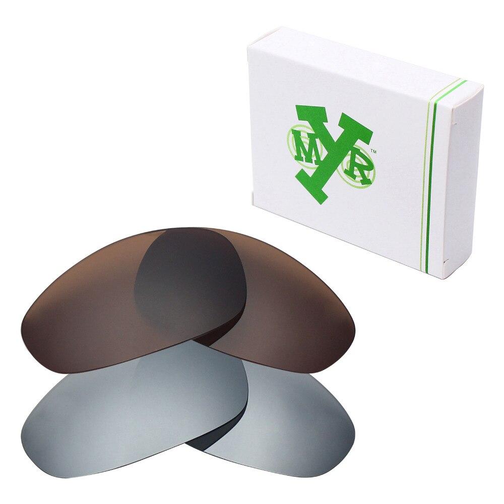 62b4e26a2 2 pares mryok polarizado Objetivos para Oakley Juliet Gafas de sol Titanium  Silver & Bronze Brown