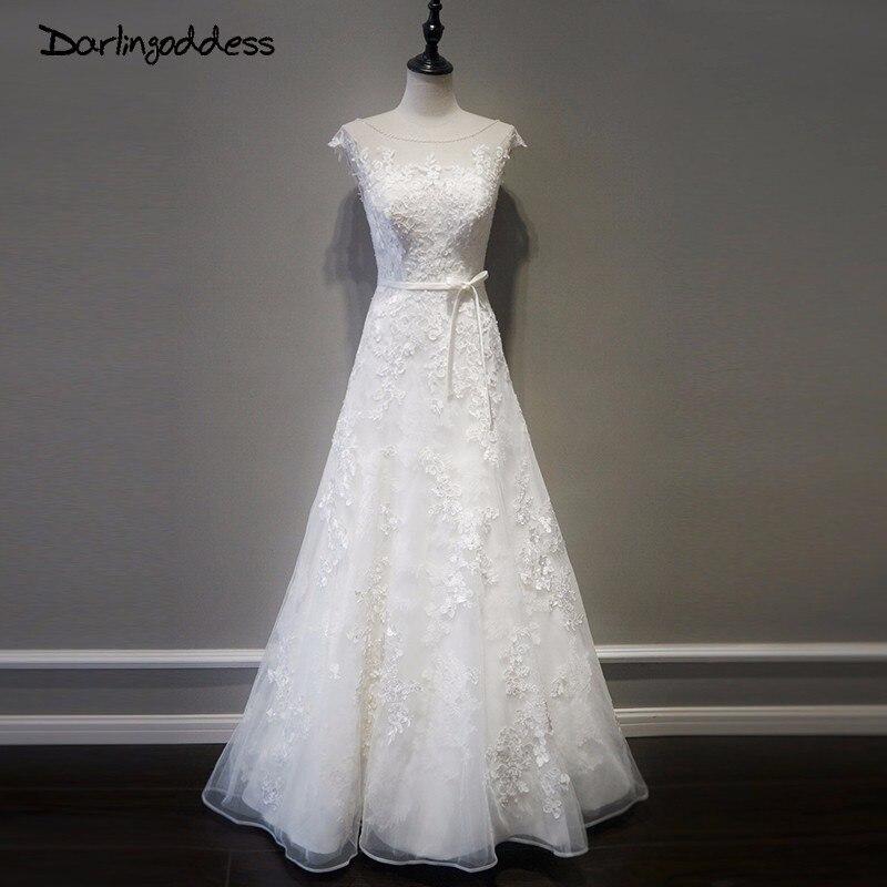 Robes De mariée De plage en dentelle élégante darlindéesse 2017 robes De mariée bohème dos nu Vintage Photo réelle Robe De Mariage