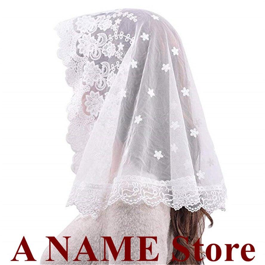 2020 Black white Lace Veil Mantilla for Church Head Covering Catholic Latin Mass mantilla negras vela negra Voile Noir Dentelle